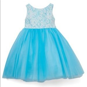 Aqua blue lace/tulle dress size 4